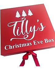 Little Secrets Childrens Clothing vigilia di Natale, Babbo Natale e fiocchi di neve design, regali, regalo personalizzabile da ragazzo o ragazza