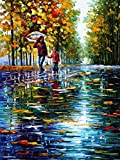100% Hand Painted Oil Paintings Modern Painting Wall Decor Grow Up Contemporary Abstract Oil paintings (20X28 Inch, Art 3)