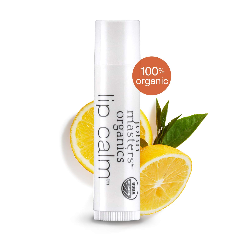 John Masters Organics - Lip Calm Original -USDA Certified Organic Natural Lip Balm to Moisturize, Hydrate & Soothe Chapped Lips - 0.15 oz (Box of 12)