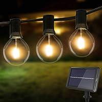 Litogo Guirnaldas Luces Exterior Solar, 8m G40 25+2 LED Cadena de Luces Exterior 4 Modes Luces Exterior Bombillas…