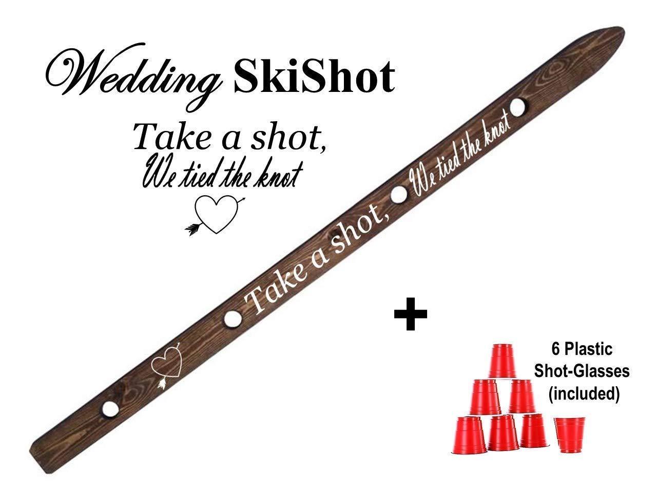 Wedding Ski Shot Shot Board