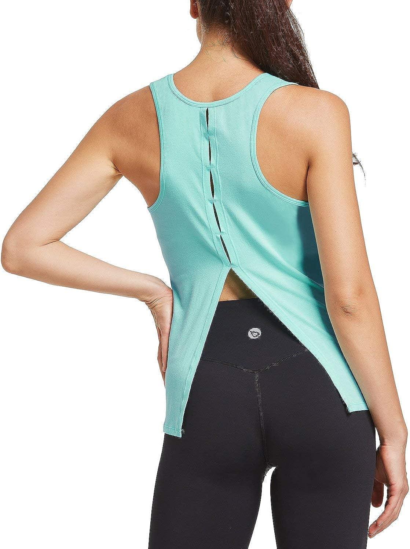 BALEAF Womens Long Sleeve Workout Quick Dry Shirts Thumbholes Moisture Wicking Breathable Running T-Shirts Exercise Hiking