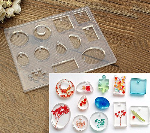 12-designs-silicone-pendant-mold-for-epoxy-resin-jewelry-making-tools-craft-pack-of-1