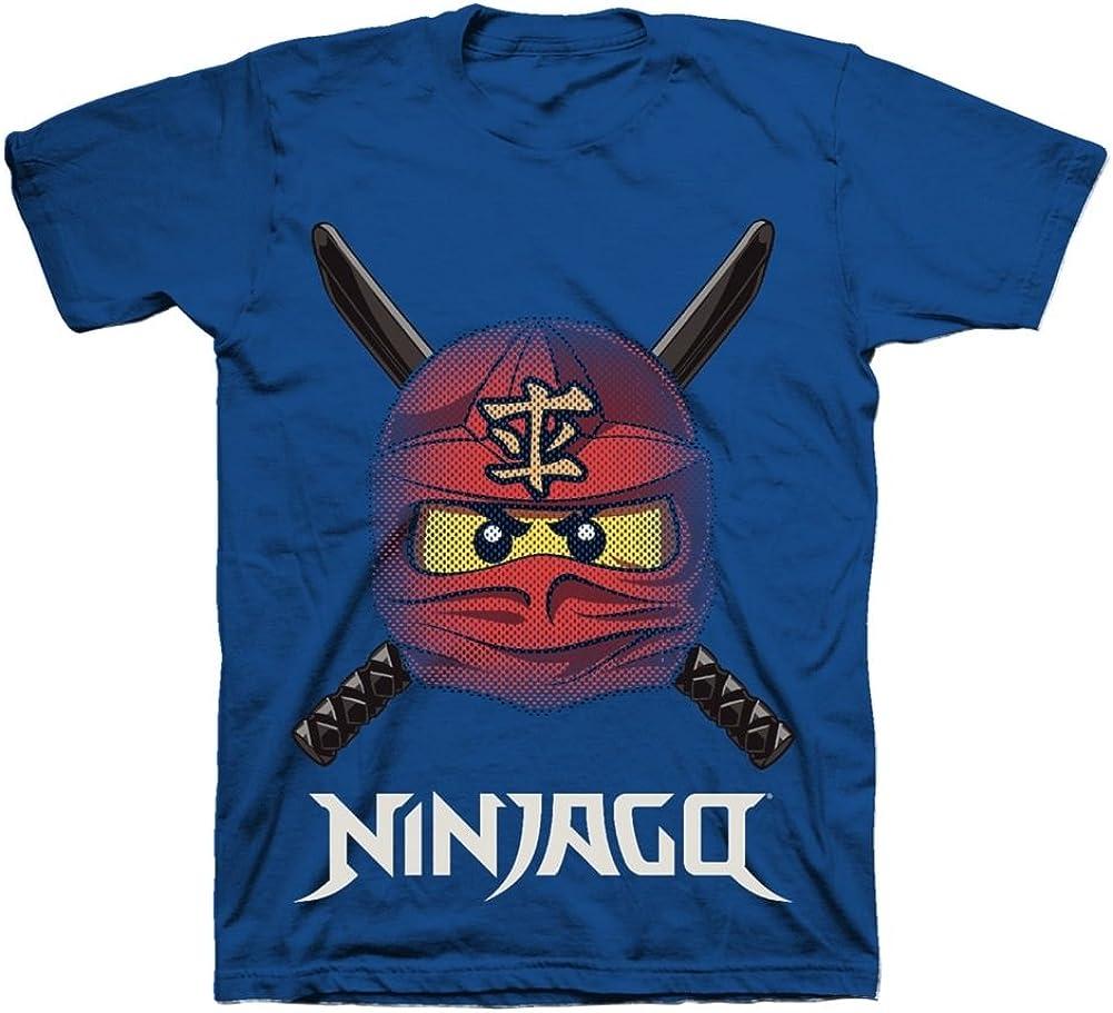 LEGO Ninjago Ready to Battle Face T-Shirt, Boys, Tagless, Size 5/6