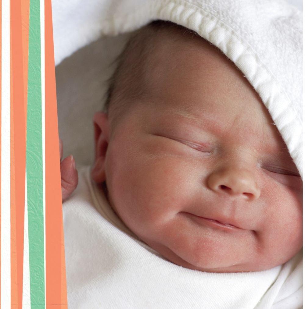 Kartenparadies Danksagung Danksagung Danksagung für Geburt Baby Dankeskarte hearts and stripes, hochwertige Danksagungskarte Baby inklusive Umschläge   100 Karten - (Format  145x145 mm) Farbe  Grasgruen B01MZFQ6RQ | Modernes Design  | Genial  | Das hochwertigste Ma 4ee7ce