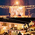YQL Outdoor Lights Hanging Kit, Globe String Lights Suspension Kit, 82ft/164ft Black Vinyl-Coated 304 Stainless Steel Cable, String Light Guide Wire, Turnbuckle Wire Rope Tension with Hooks