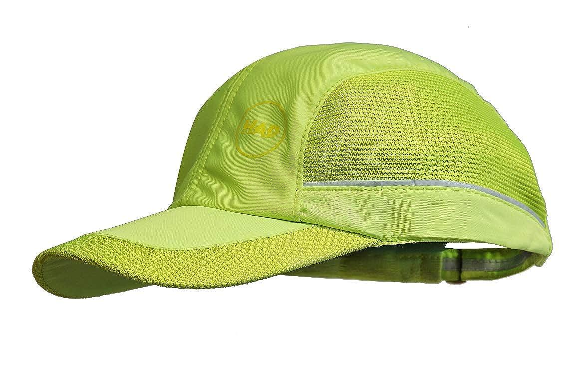 neongelb one size Polyester Had Athletic Cap mit Reflektor UPF 50+