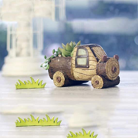 Amazon.com: Fighch Imitation Wood Grain Cartoon Car ...