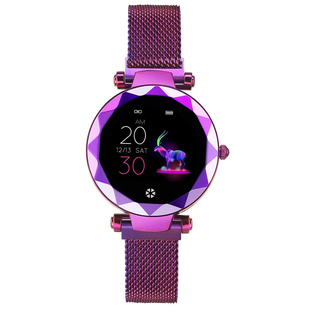 Opef HI18 Very Beautiful Female Smart Watch, Sports Fitness Calorie Tracker, Activity Heart Rate Monitor for Android and iOS (Purple) by Opef