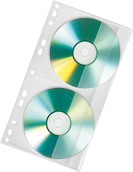 Veloflex 4356100 Cd Dvd Doppelhülle Pp Folie Für 2 Cds Passend Für Ringbücher A4 Transparent 100 Stück Bürobedarf Schreibwaren