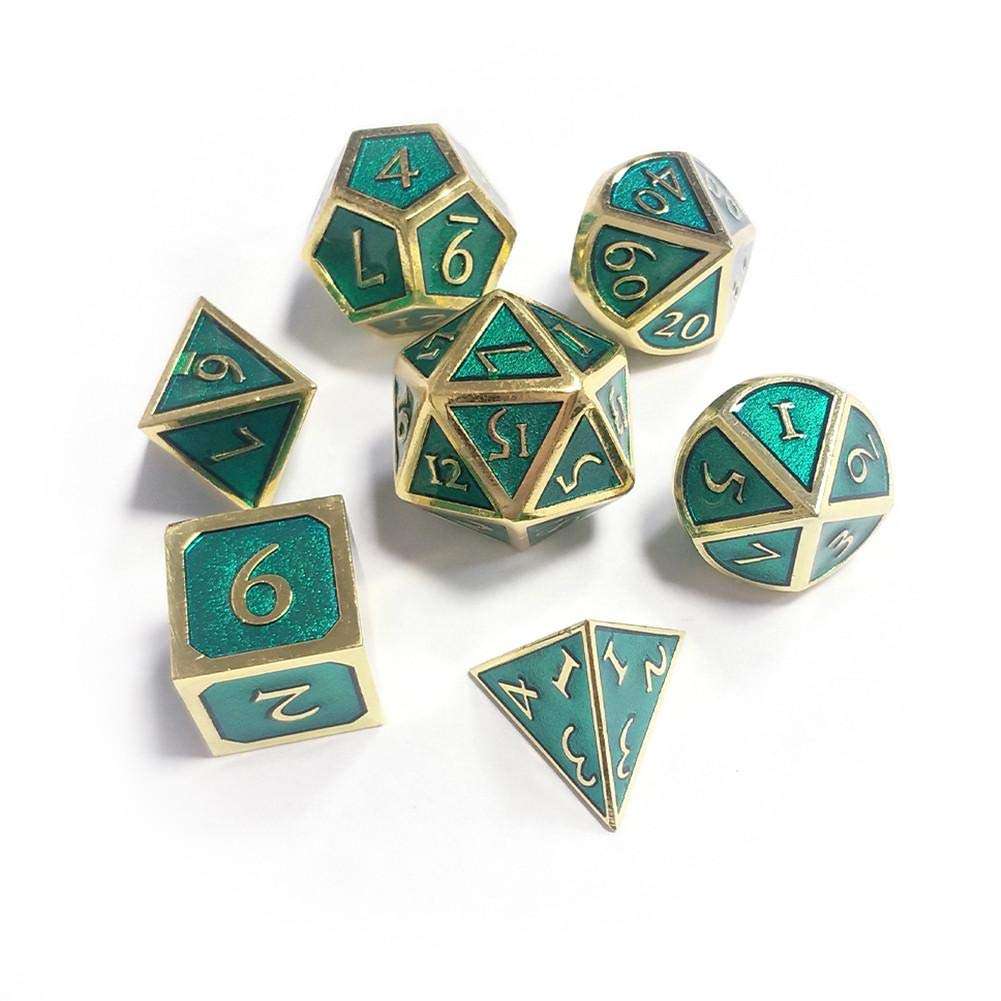 Jeu de d/és RPG Enseignement des math/ématiques Starter Jeu de d/és en m/étal de 7 pi/èces D /& D Jeu de r/ôle en m/étal innovant Jeu de d/és pour Les donjons et Les Dragons