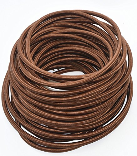 Outstanding Coffee Brown 18 3 25 Ft 3 Wire Flat Cloth Covered Wire Antique Wiring Digital Resources Remcakbiperorg