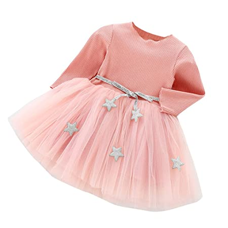Babykleidung JYJM Prinzessin Kleid Kleid Mädchen langärmelige Blumen Gaze Kleid Prinzessin Kleid Mode Babykleid Nettes Kleink
