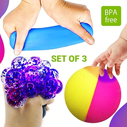Amazon.com: Set of 3 Led Anti-Stress + Stretch Squeeze + ...