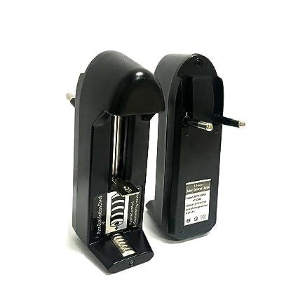 Batería Recargable 18350 Cargador Universal, Kamry K1000 Cigarrillo Electrónico Pipa Cargador de Batería Independiente de 2 Ranuras para Batería de ...