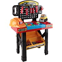 52 Piece Kids Workbench Set Children Workshop Tool Table Pretend Role Educational Play Toys