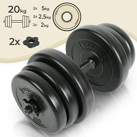 Juego de Mancuerna de Fitness y Pesas - 20KG - Pesas Musculación ...
