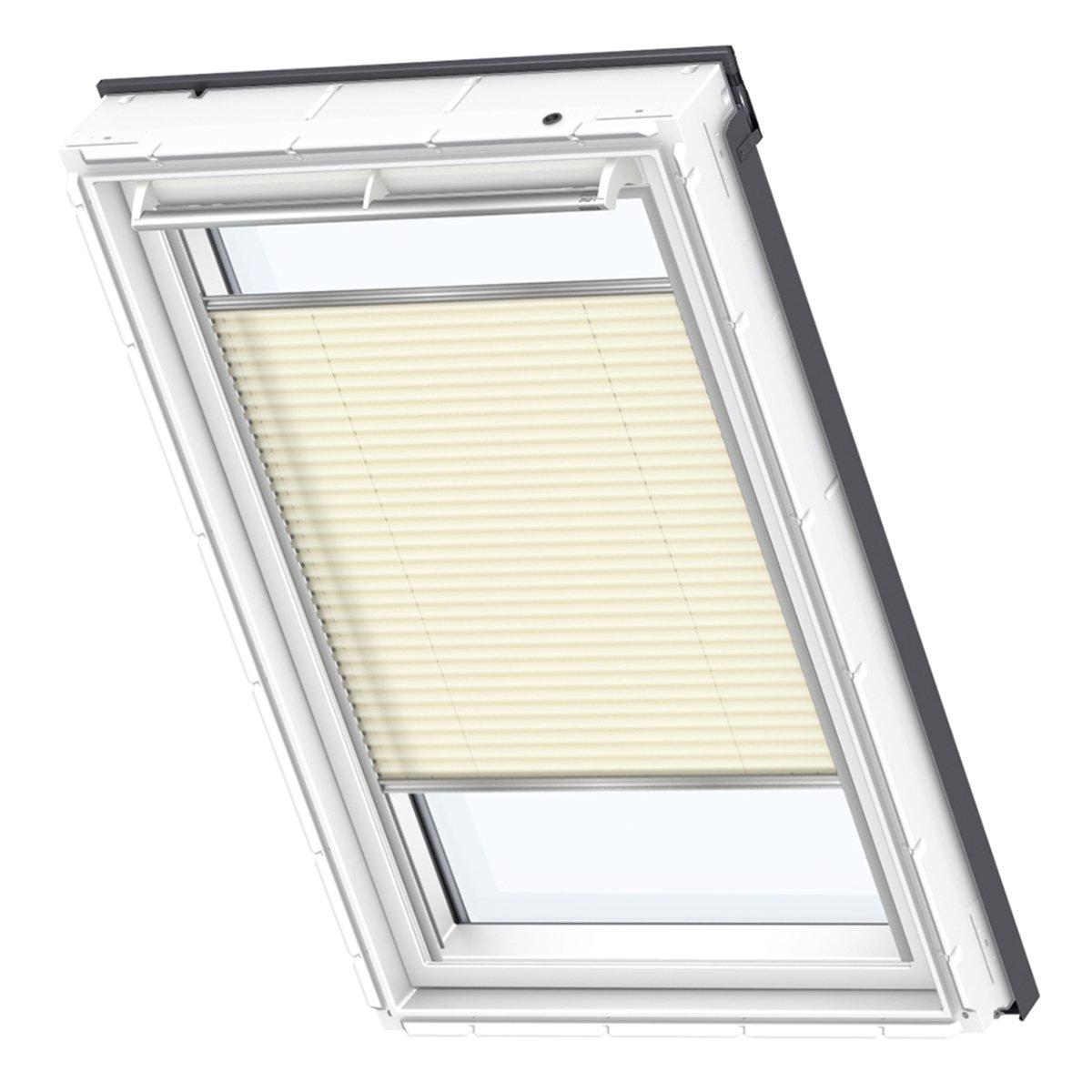 VELUX Original Plissee Creme Dachfenster, CK04, Uni Creme Plissee 8d3ac5