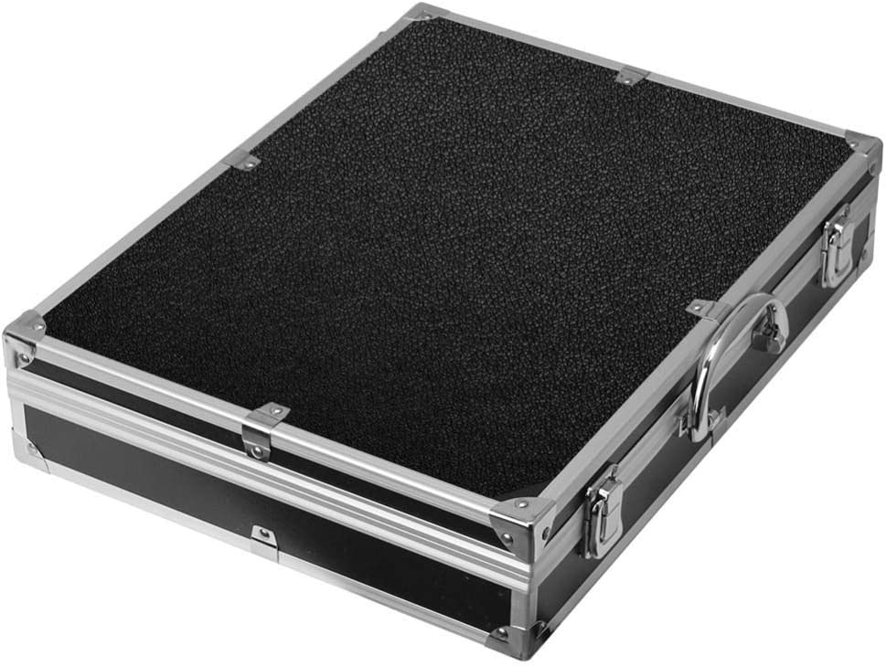 Llsdls Multi-function Aluminum Alloy Tool Box hardware toolbox high quality Impact resistant safety case with foam lining 37x28.5x8cm (Color : 37x28.5x8cm) 37x28.5x8cm