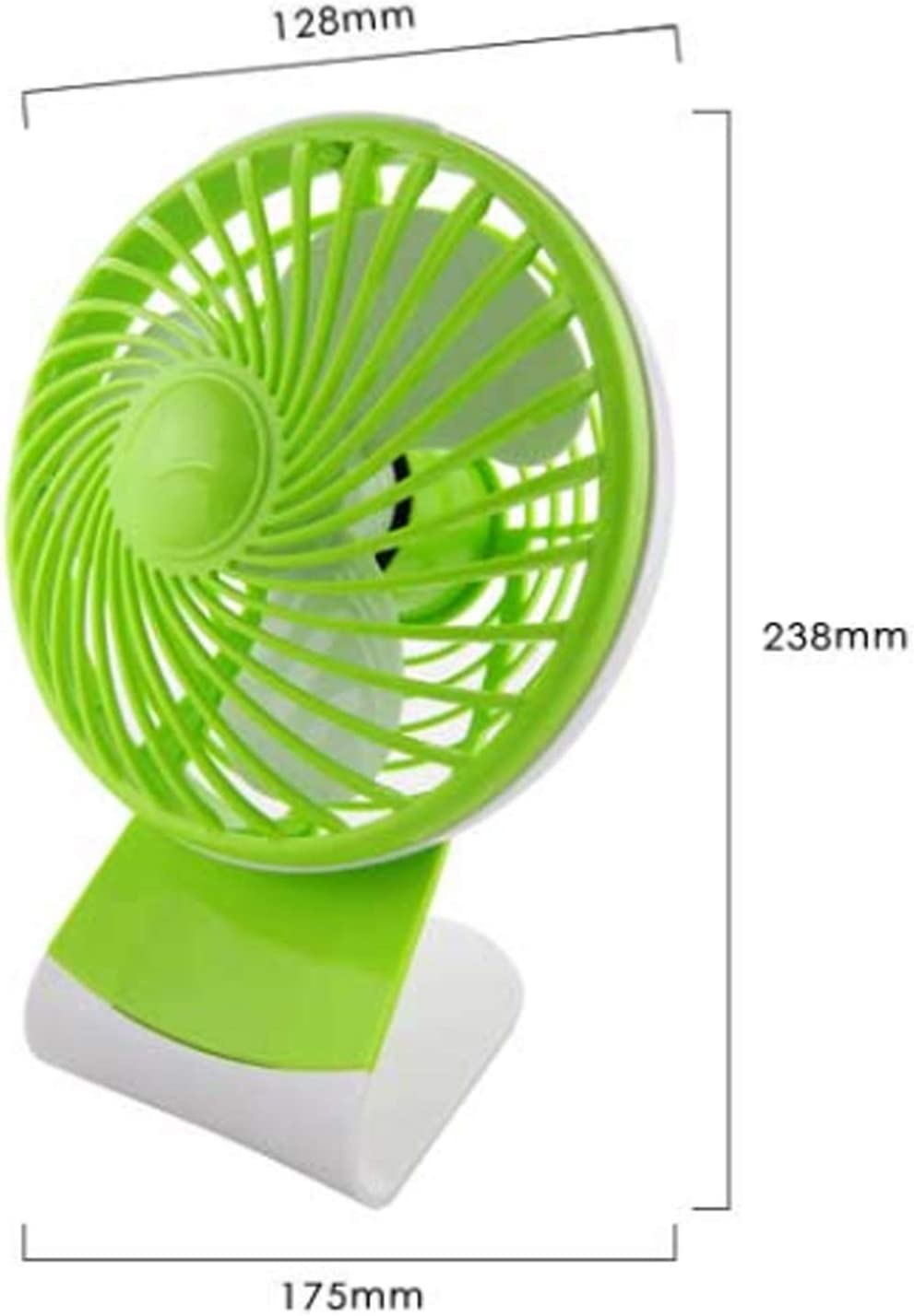 Color : Green Air Cooler USB Fan 6 Inches Small Fan Mini Personal Electric Fan Student Computer Fan