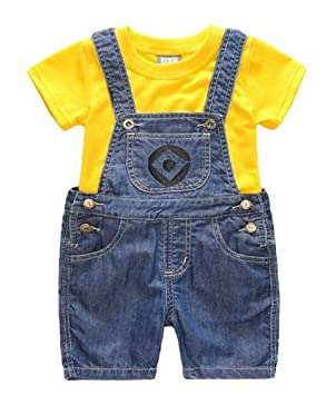 1712650d70bad ミニオン 風 子供 ミニオンズ tシャツ セット コスプレ 男の子 女の子 キッズ 衣装 ハロウィン 仮装 mk-