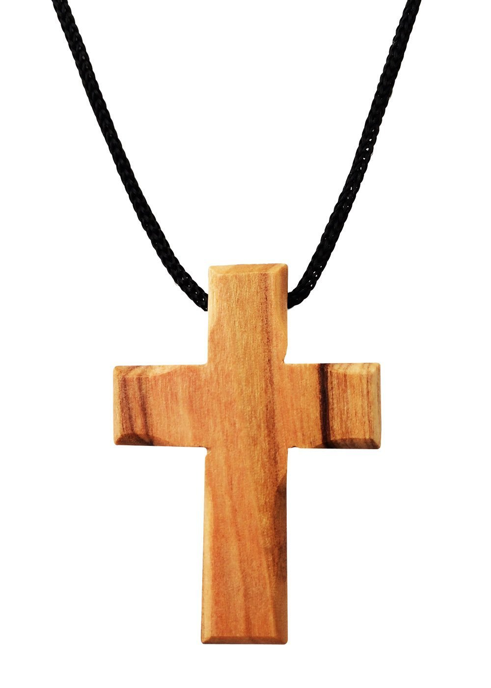 Holy Land Imports Olive Wood Cross Pendant. (1.5 inches Height) WA-37