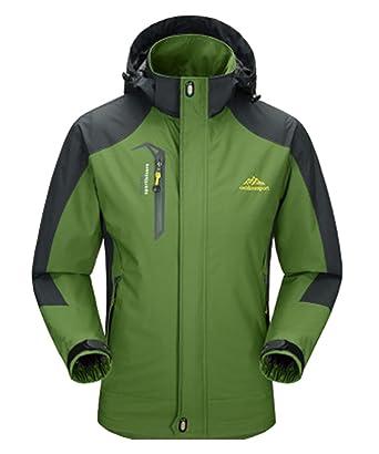 DEMO Herren Wasserdichte Regenjacken Männer Frauen Softshell Sport Outdoor  Jacken mantel paar Oberbekleidung Breathable Mit Kapuze