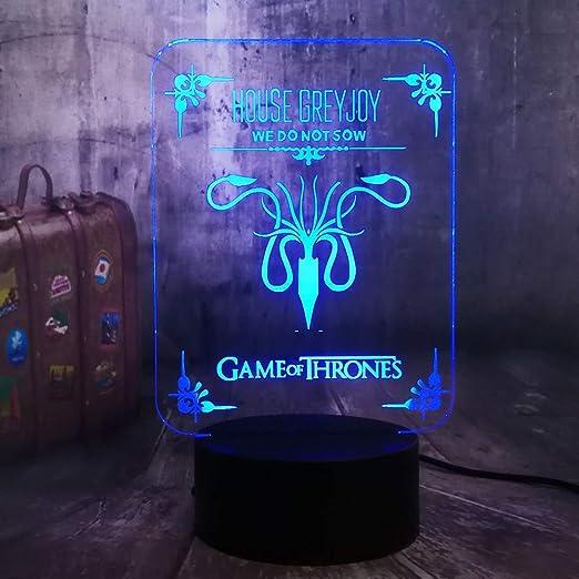 3D Led Night Light Game of Thrones Una canción de hielo y fuego ...