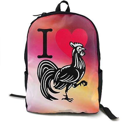 fregrthtg I Love Cock Fashion Lightweight Canvas Travel Backpack For Women & Men