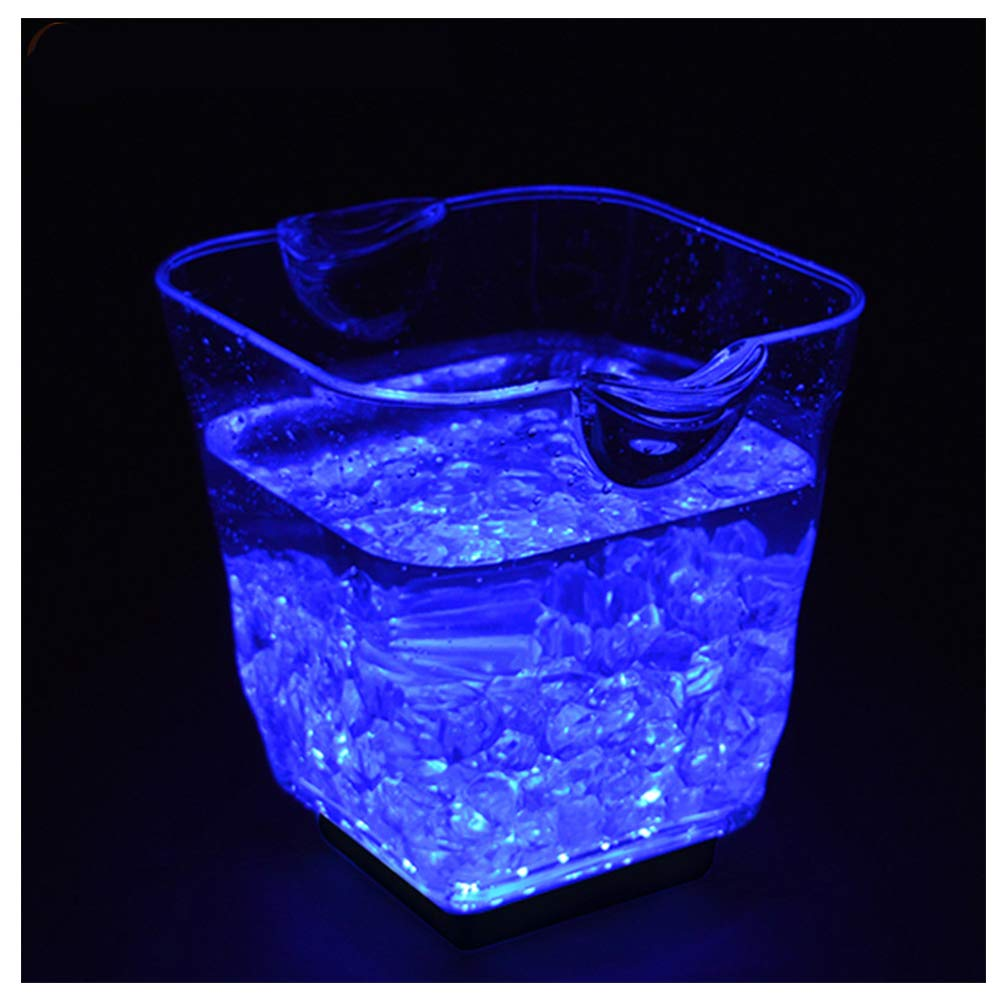 DAWNBOYE 5L Clear Wine Or Champagne Bottles Ice Bucket,Bar Tools,Wine Accessories Colour Changing LED Ice Bucket,Colour Changing Ice Bucket,Beer Barrel,Charging by DAWNBOYE