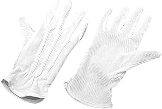 Par de protección antideslizante guantes de algodón blanco de conducción Trabajo: Amazon.es: Salud y cuidado personal