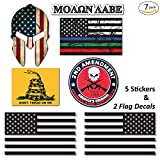 #4: 7-Pack Truck, Jeep Stickers & USA Flag 6