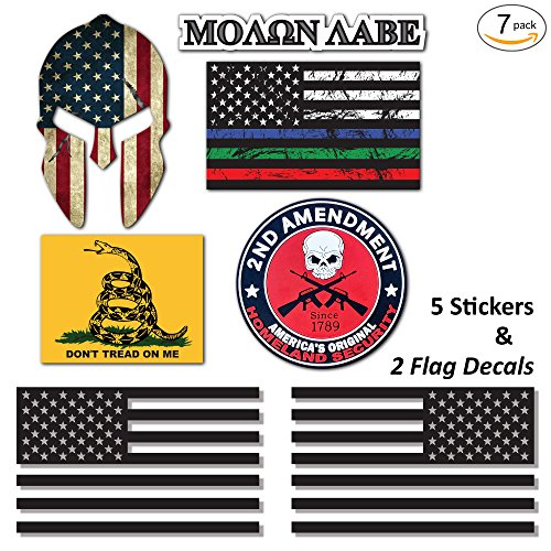 7-Pack Truck, Jeep Stickers & USA Flag 6