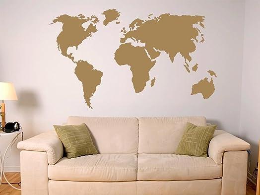 World Map Wall Sticker, 092 Copper, 102 X 57 Cm Part 59