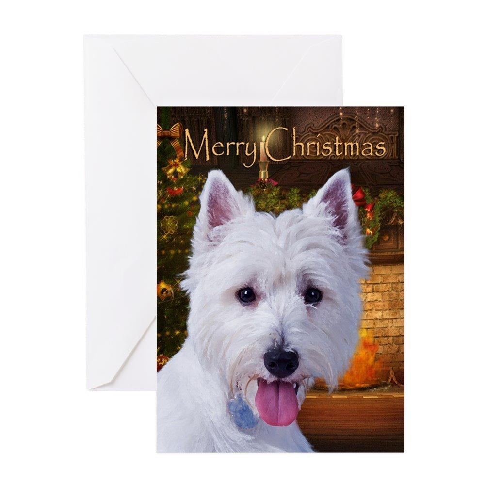 Amazon.com : CafePress - Westie Holiday Cards (Pk Of 20) - Greeting ...