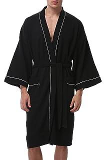 f680a3d866 Coser Paradise Adult Unisex Bathrobe Waffle Cotton Rabe Spa Robe Sleepwear