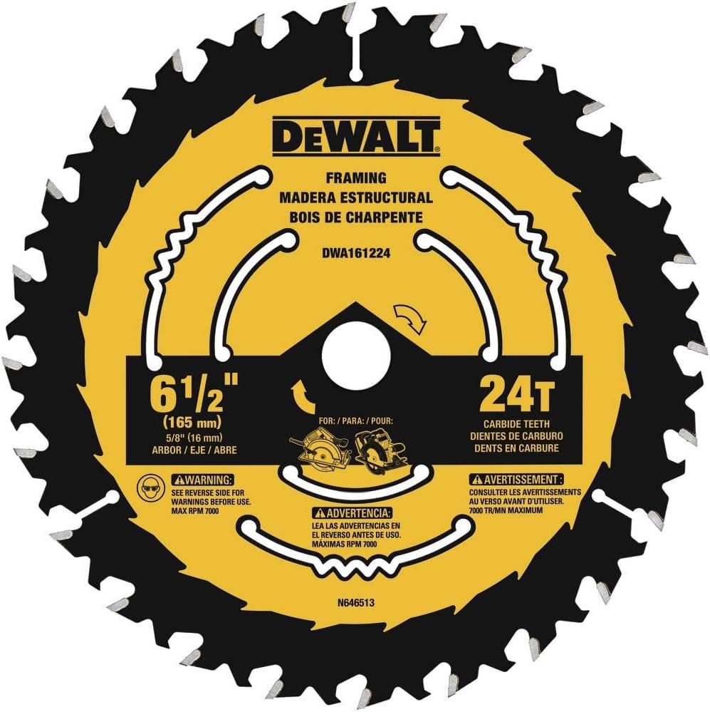 DEWALT DWA161224 6-1/2-Inch 24-Tooth Circular Saw Blade