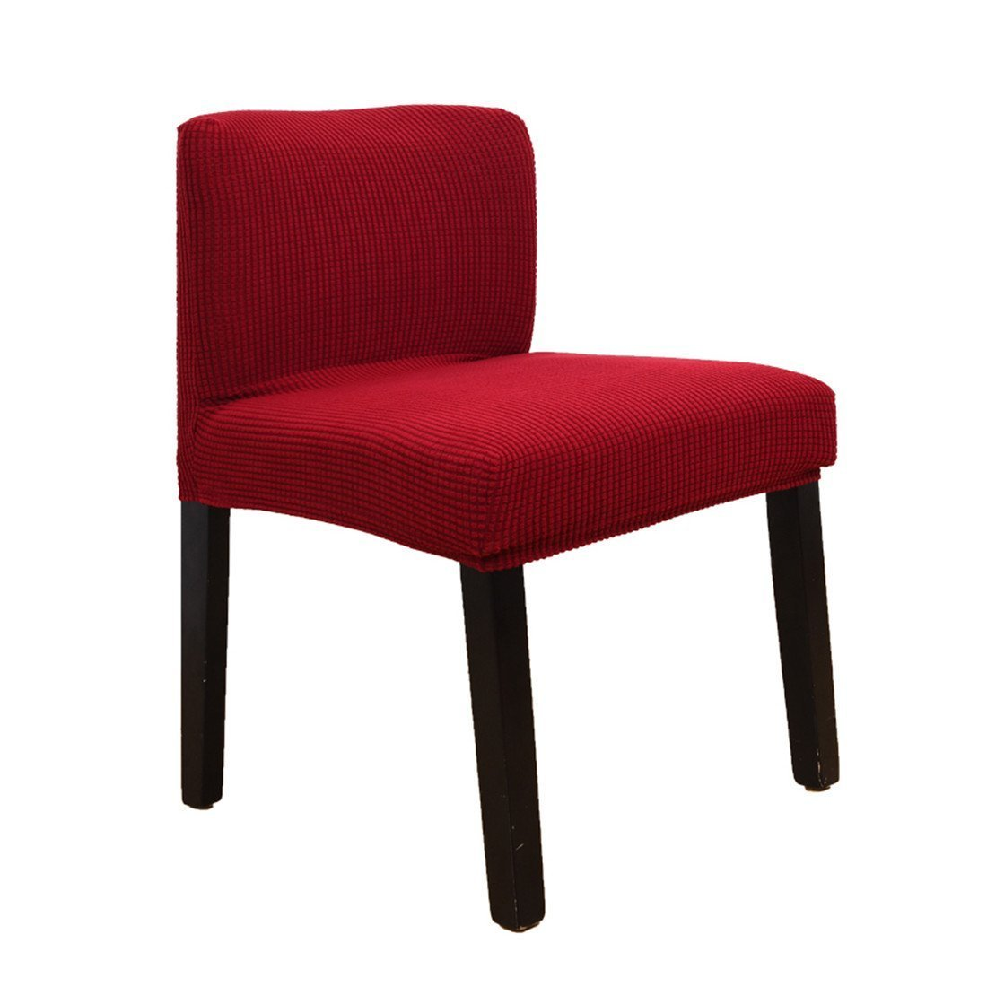 G-Champsolar Stretch Chair Cover Slipcovers for Short Back Chair Bar Stool Chair (Red)