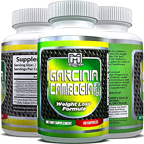 Garcinia Cambogia 95% HCA Advanced Weight Loss Formula - Get a Healthy body Weight! - Natural Garcinia Cambogia 95% HCA by Megathom Nutrition | 60 (Carcinia Cambogia Premium)