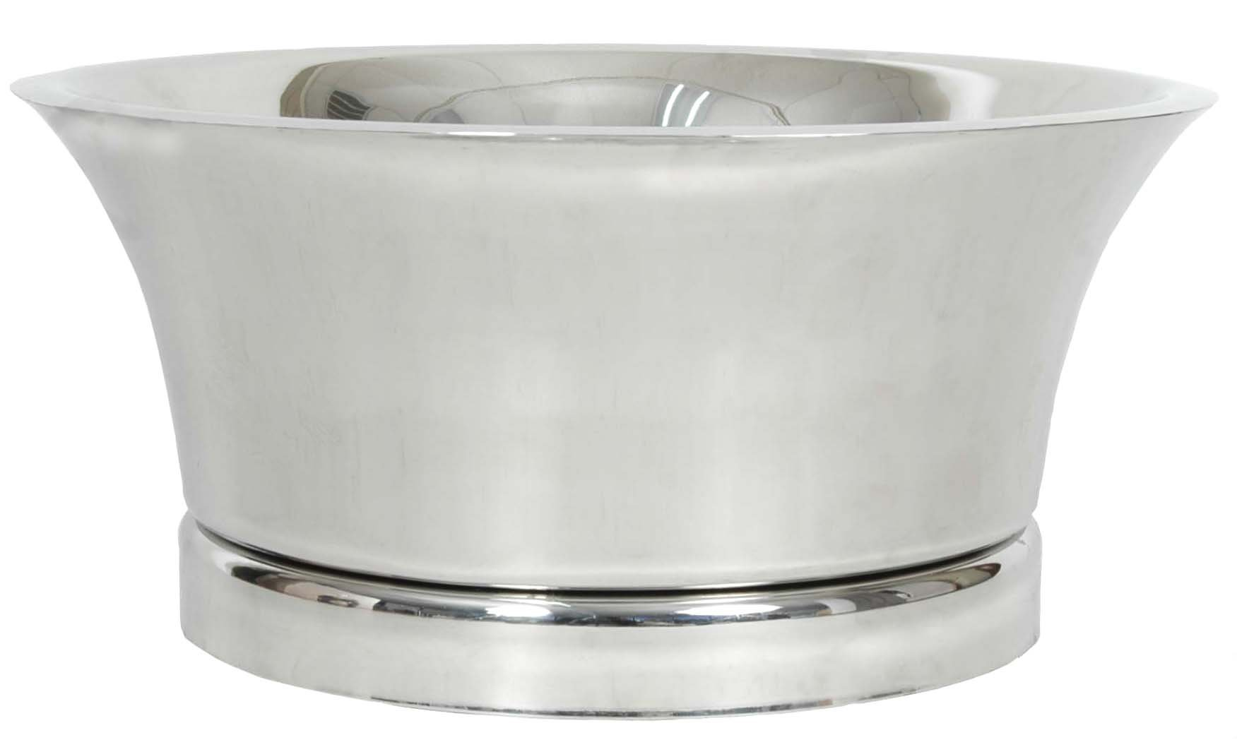 Beverage Bucket Stainless Steel Double Walled with base 21'' D X 9.5'' H
