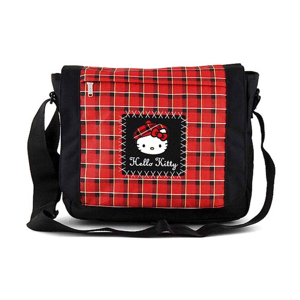e3e1ede66f Target Shoulder Bag Hello Kitty Sac bandoulière, 36 cm, Noir (Nero)