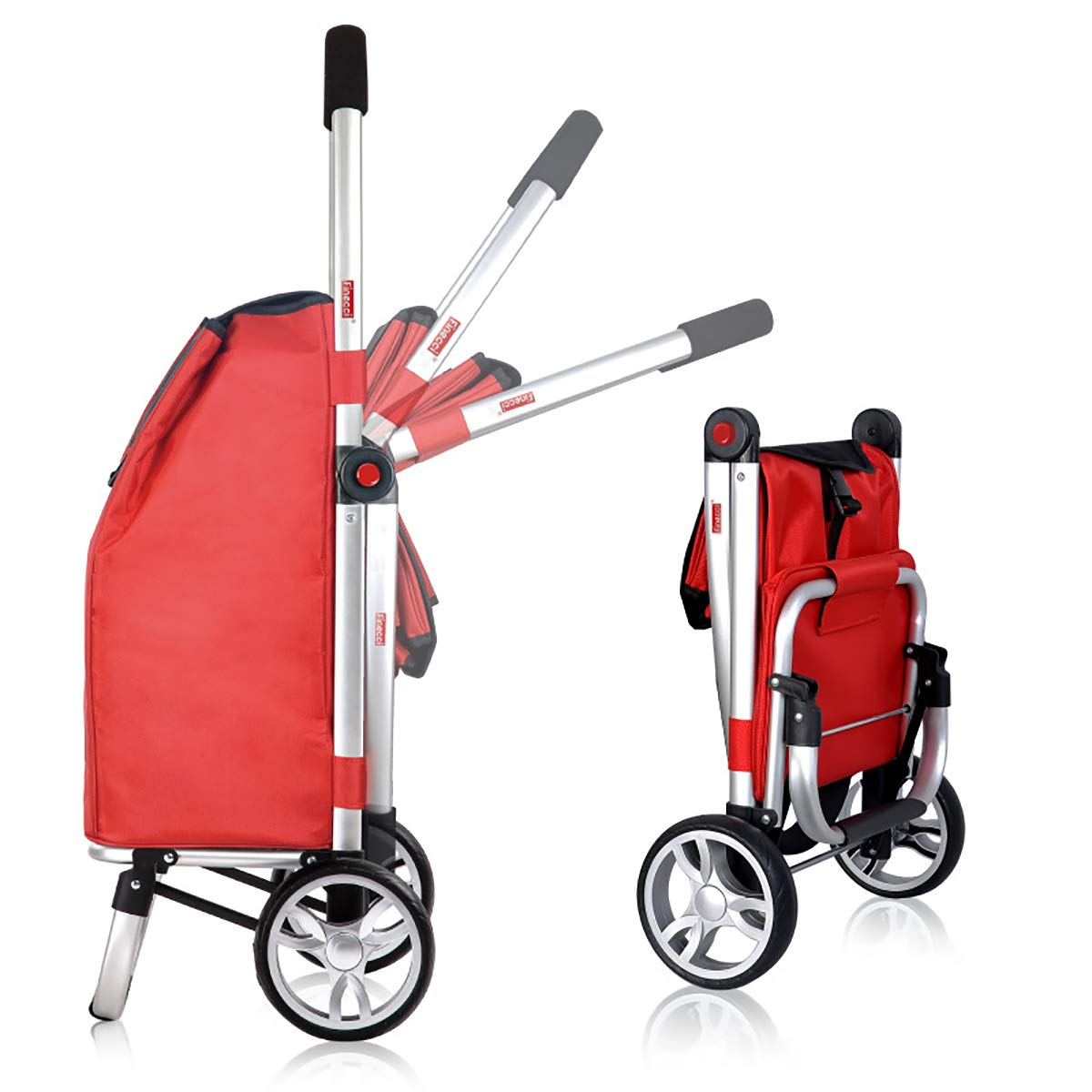 Grande Capacit/é ORPERSIST Polyvalent Chariot de Courses Pliable Poussette de March/é 2 Roues Chariot /à Main Sac