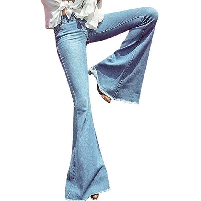 Pantalones de Trompeta de Jeans para Mujeres, ❤ Absolute ...