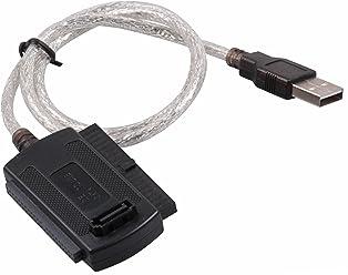 """booEy Adapter für 2,5""""/3,5""""/5,25"""" Festplatte USB auf IDE SATA Kabel Konverter"""