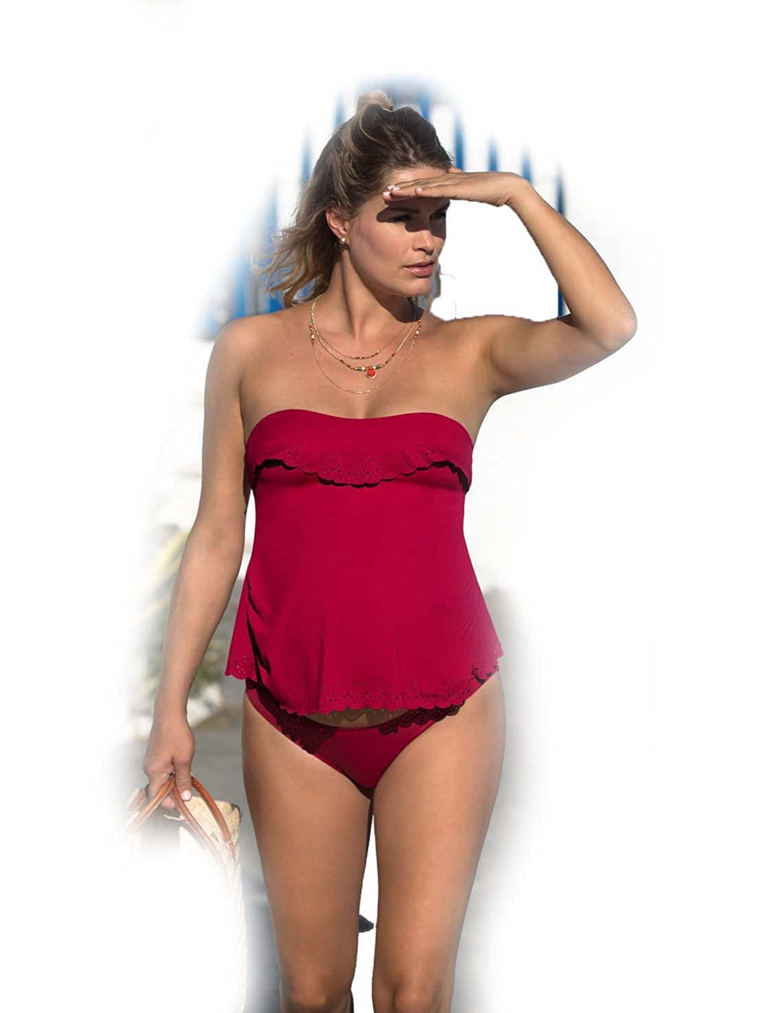 Cache Coeur Bloom Maternity Tankini