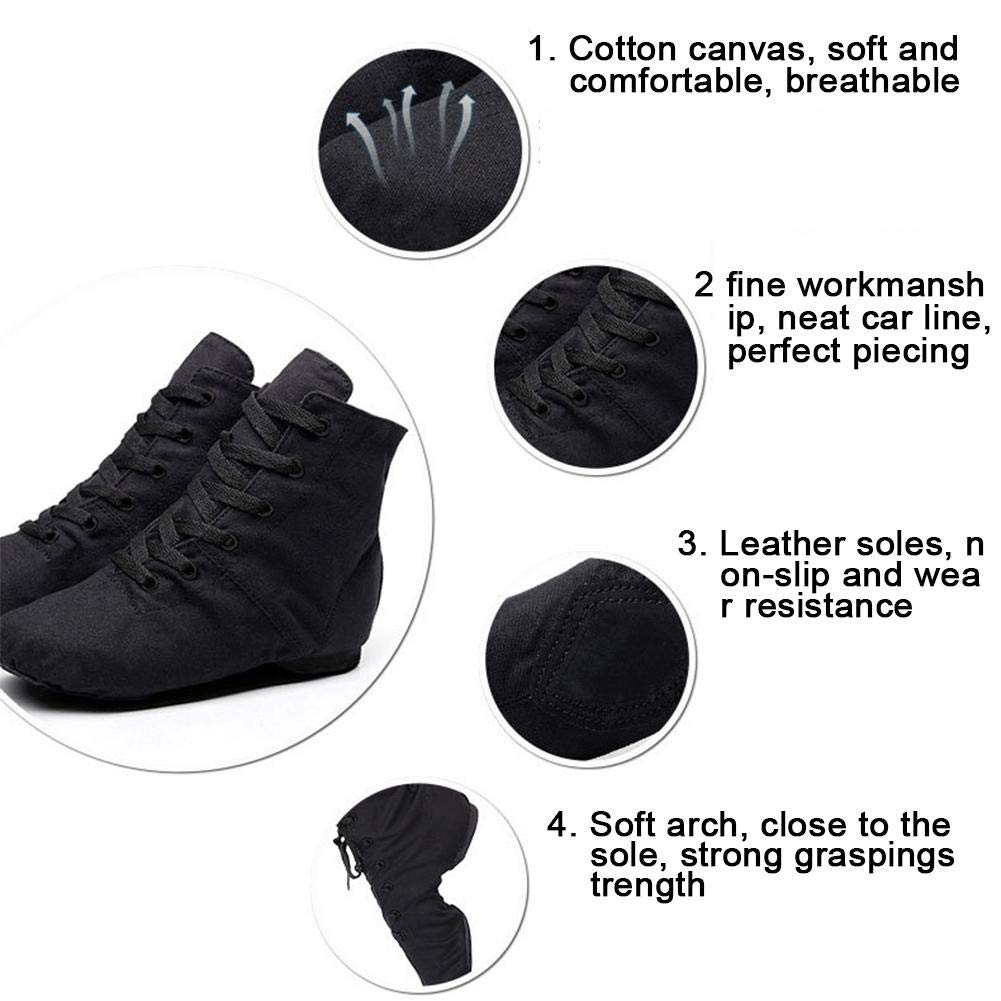Chaussures Chaussures Toile Bottines PU Cuir Bottes Jazz roWEdCxBeQ