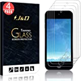 J&D Compatible for iPod Touch 2019 Glass Screen Protector (4-Pack), Not Full Coverage, Tempered Glass HD Clear Ballistic…