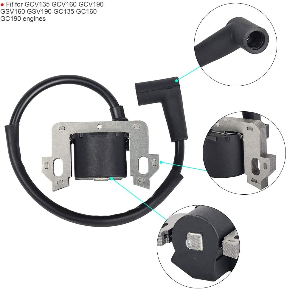 Tuzliufi Replace Ignition Coil Honda GC135 GC160 GC190 GCV135 GCV160 GCV190 GS160 GS190 GSV160 GSV190 engines Replace 30500-ZL8-004 30500-ZL8-014 30500-Z0J-003 30500-Z0J-004 New Z22