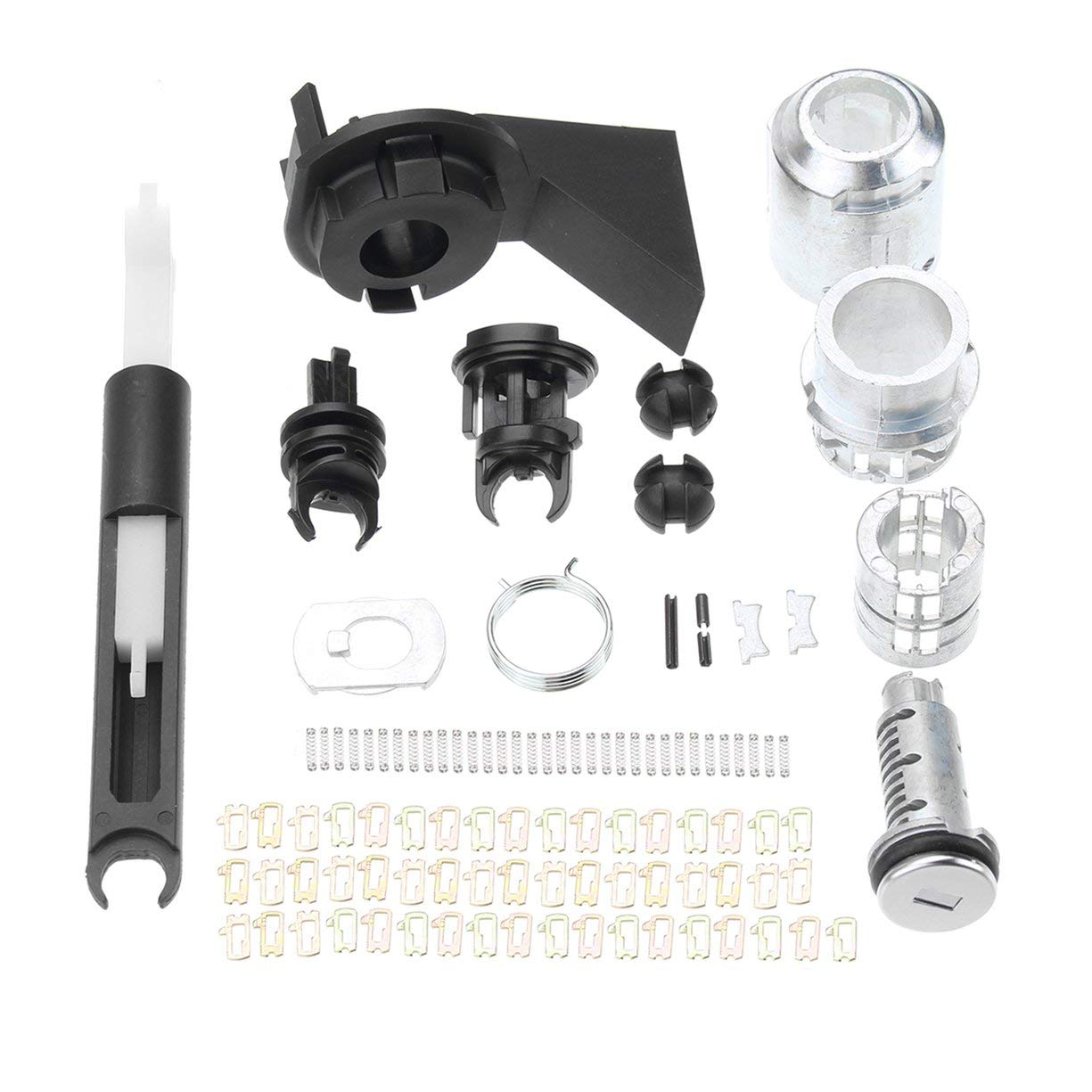 Kit di bloccaggio serratura rilascio cofano Kit chiusura scrocco per Ford For Focus MK2 2004-2012 1355231 Kit serratura kit di riparazione serratura Detectoy