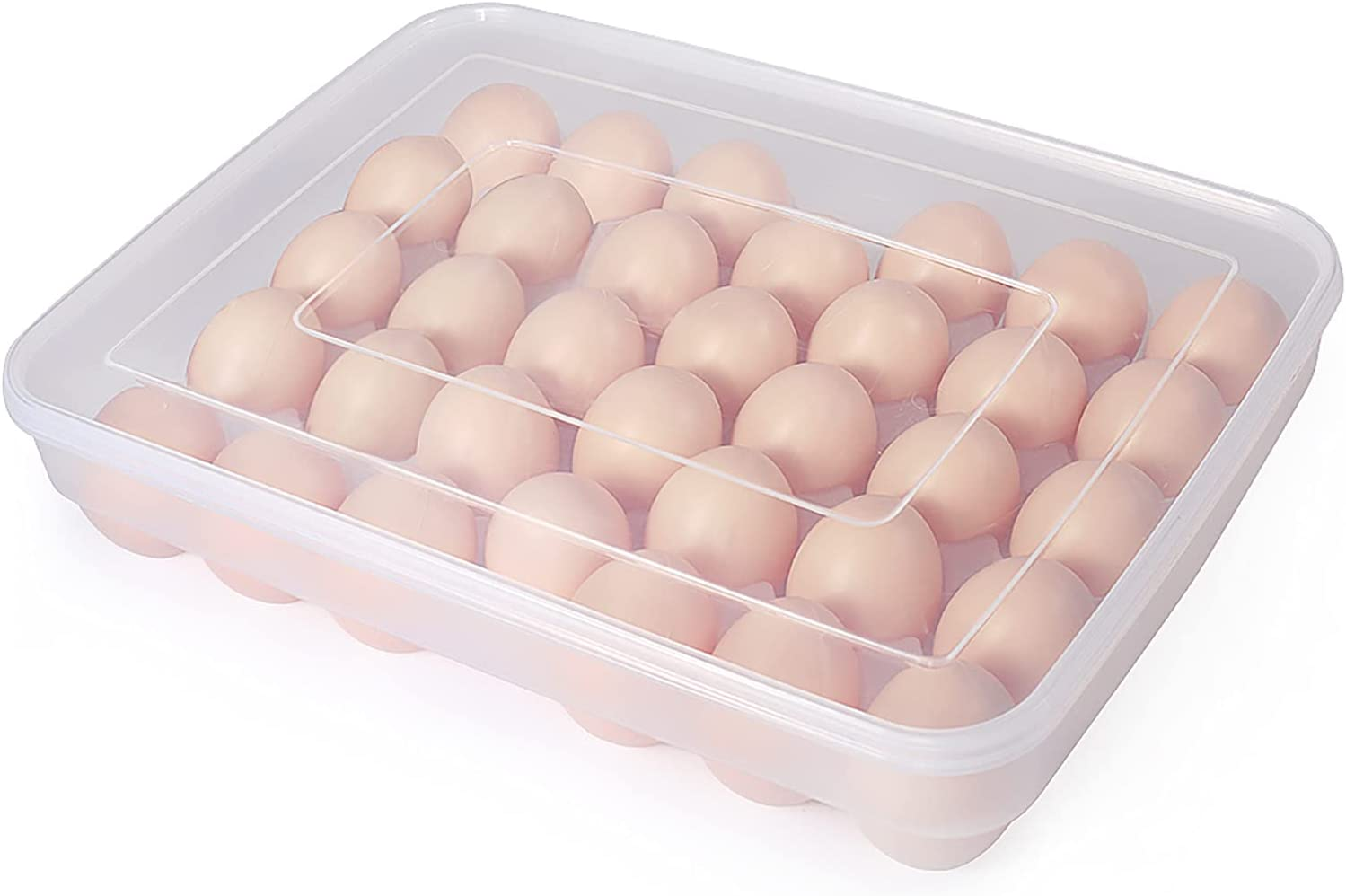 Details about  /Clear Plastic Egg Storage Box Container Holder Case for 8 Eggs